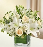 Healing Tears White Sympathy Arrangment