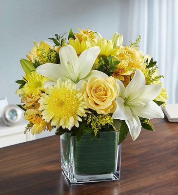 Healing Tears - Yellow & White Sympathy Arrangements