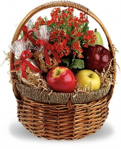 Health Nut Basket Teleflora in Springfield, IL | FLOWERS BY MARY LOU