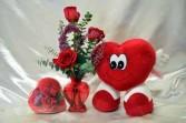 Heart 2 Heart Flowers and Heart Shape Plush