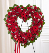 HEART 2 STAND WREATH FOR A SERVICE/MEMORIAL