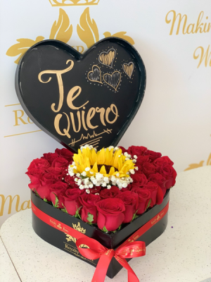 Heart #2 with Sunflower and Baby Heart #2 with Sunflower and Baby in Harlingen, TX | Royalty Roses