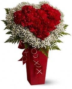Heart and Soul Vase Arrangement