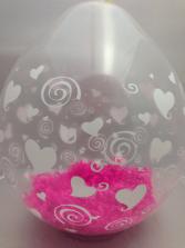 Heart and swirl Stuffed Balloon Custom Balloon Bouquet