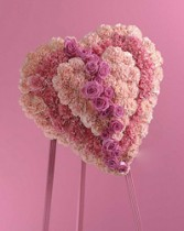 Heart At Peace Arrangement. Pink