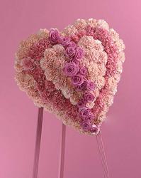 Heart At Peace Arrangement. Pink