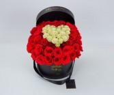Heart Box 50 Roses