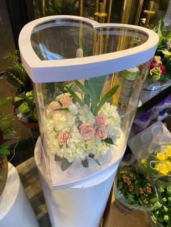 Heart Box arrangement  Luxe