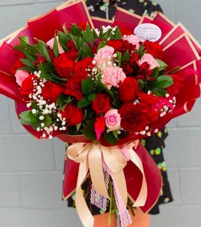 Pink Heart Box Bear Rose Bath Soap flower petals