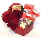 Heart Box of Flowers & Chocolates Container