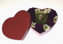 Heart Box of Flowers & Jewellery Container