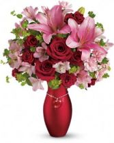 Heart Charm  Vase Arrangement