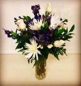 Heart Felt White and Blue Floral Design