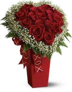 Heart filled with Love Roses