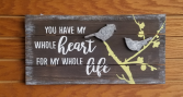Heart for Life Sign