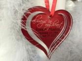 HEART MEMORIAL ORNAMENT