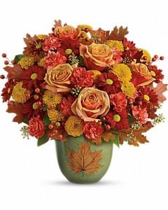 Heart of Fall Bouquet Fall Flowers