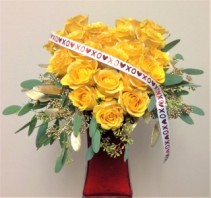 Heart of Gold Custom Rose Arrangement