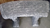 Heart of Gold Bench Concrete