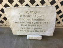 Heart Of Gold Memorial Stone