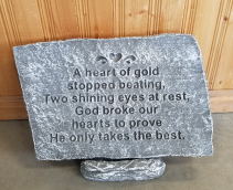 Heart of Gold  plaque & stand