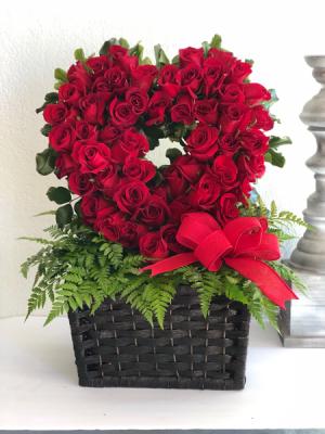Heart of Roses Rose Arrangement (Valentine's Day Special) in Glendale, AZ | My Secret Garden Flower Shop