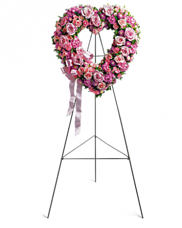 Heart of Roses  Funeral Wreath