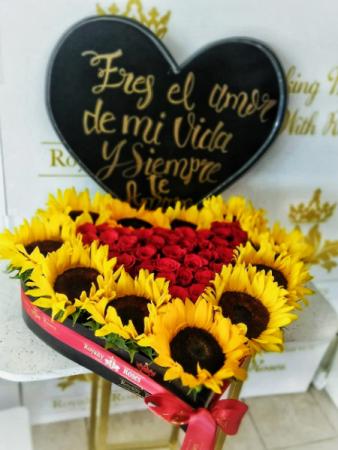 Heart of Roses & Sunflowers Heart