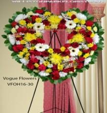Heart Of Sorrow Funeral Sympathy Hearts