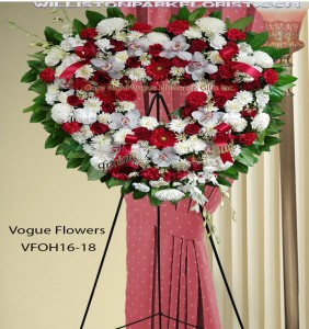Heart Of Tenderness Funeral Sympathy Hearts in Williston Park, NY | VOGUE FLOWERS