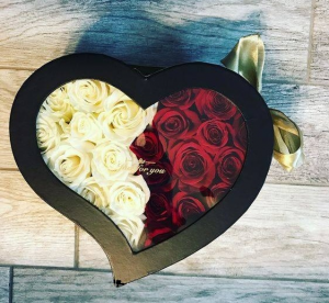 Window Heart Box Your Choice of Color in Arlington, TX | Erinn's Creations Florist