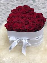 Heart Shape - Preserved roses Evelasting Roses