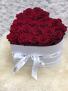 White Heart Shape Box 25 Fresh Roses