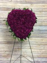 Heart Shape (Purple Carnations)