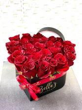 Heart Shaped Box Fresh-Cut Roses