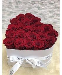 Heart Shaped Box Fresh-Cut Roses