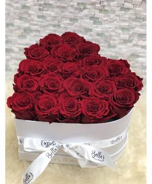 Heart Shaped Box Fresh-Cut Roses in Bronx, NY | Bella's Flower Shop