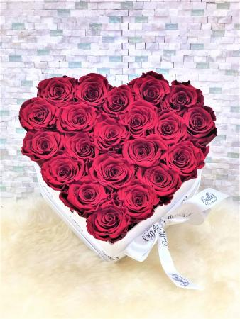 Heart Shaped Rose Box 25 Red Roses