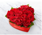 Heart Shaped Box Of Red Roses rose