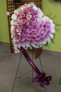 Heart Standing Spray  in Decatur, IL | WETHINGTON'S FRESH FLOWERS & GIFTS, INC.