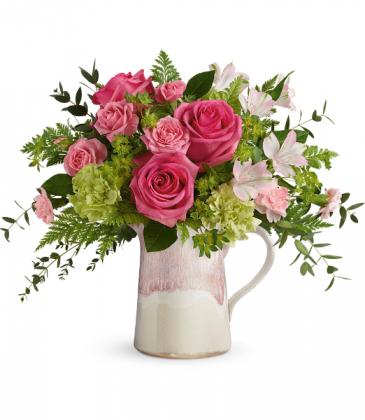 Heart Stone Bouquet All-Around Floral Arrangement