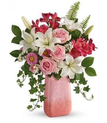 ****** sold out ****Pink n' Peach Paradise Bouquet T20M500A By Teleflora
