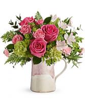 Heart Stone Bouquet Vase Arrangement
