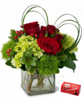 Heart struck sold in standard size only Fresh arrangement