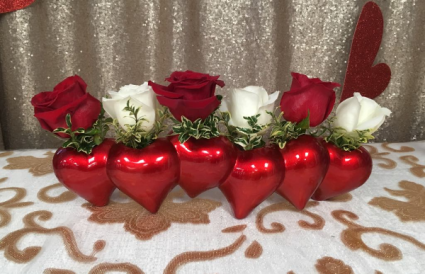 Heart to Heart Holiday Arrangement
