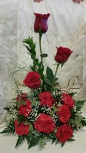 HEART TO HEART VALENTINE ARRANGEMENT