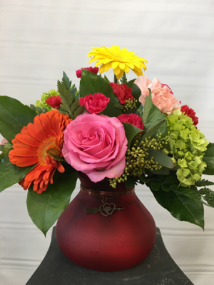 Heart to Heart Vased  arrangement in Joliet, IL | LABO'S FLOWERS & GIFTS