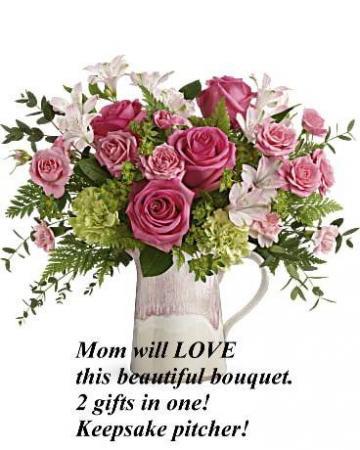 Heart stone Bouquet Fresh Floral Arrangement