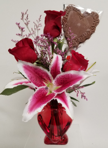 Heart Vase With Chocolate