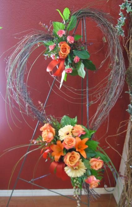 Heart Vine Tribute easel